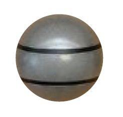 Jakele Kammergriffkugel Stainless-Look, mit 2-schwarzen Fäden