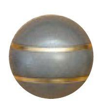 Jakele Kammergriffkugel Stainless-Look, mit 2-goldfarbenen Fäden