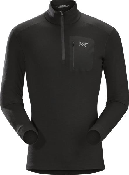 Arcteryx Satoro AR Zip Neck LS Men's Black